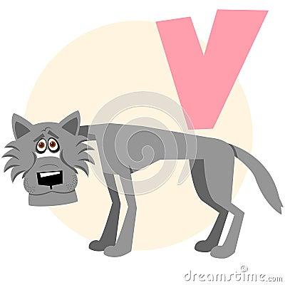 The English alphabet. Wolf