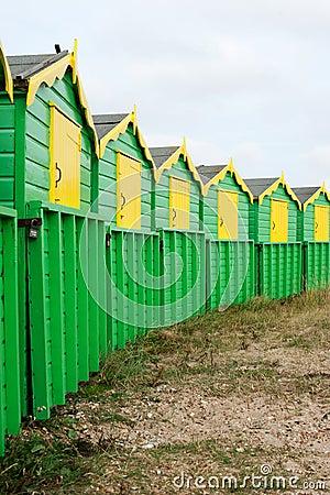 English beach huts