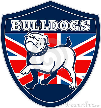 English bulldog British Flag