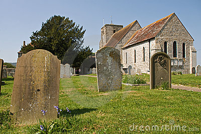 English Church on a spring day
