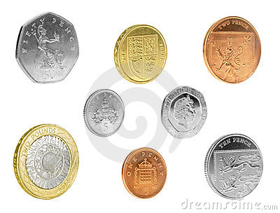 English Coins Isolated