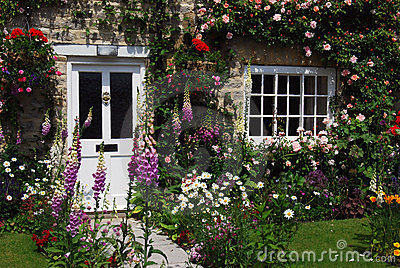 English Cottage Garden Royalty Free Stock Photo Image