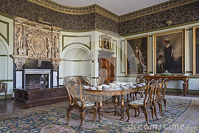 English Country Manor House - Interior Editorial Image