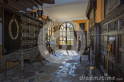 English Country Manor House - Yorkshire - England Editorial Stock Image