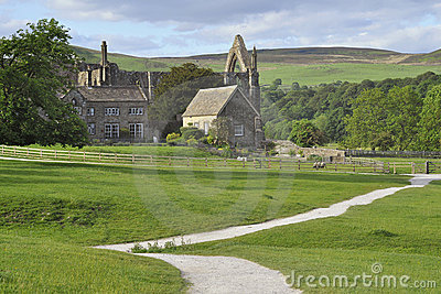 English countryside landscape: Bolton Abbey view