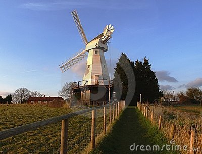 English Countryside Windmill landscape