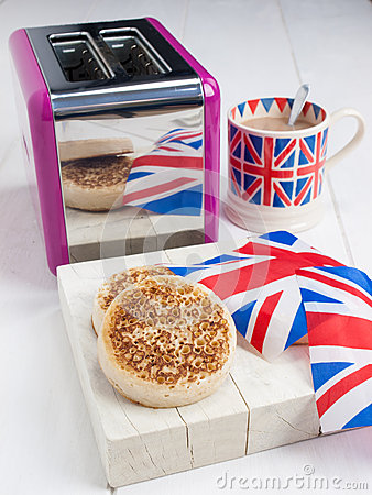 Free English Crumpets With Butter In Closeup Stock Photo - 41280910