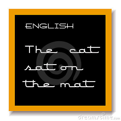 English education black board