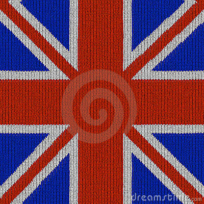 English flag in knitting pattern