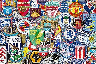 English Football Clubs Editorial Photo