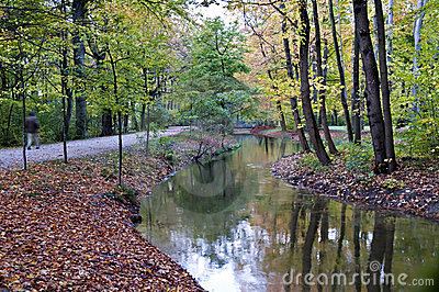 English gardens, Munich