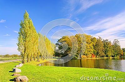 English Grounds of Woerlitz lake