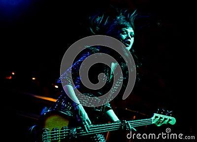English hard rock band Die So Fluid Editorial Photo
