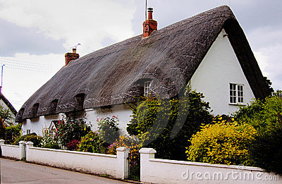English house with straw roof