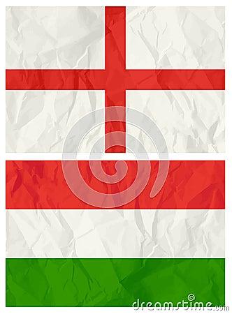 English and Hungary flag