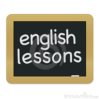 English Lessons Chalkboard EPS