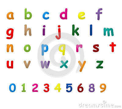 English letters a to z
