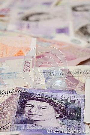 English money background pound notes