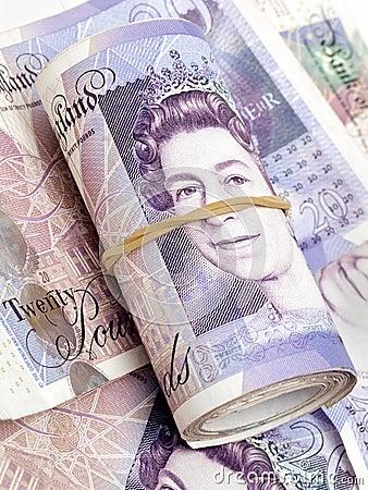 English Money Banknotes Editorial Photography