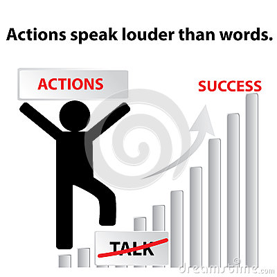 Action Speak Louder Than Voice Quotes, Quotations & Sayings 2018