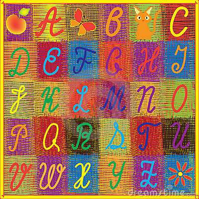 English rainbow alphabet for children