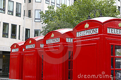 English Red Telephone Boxes