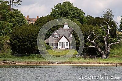 English Riverside Cottage