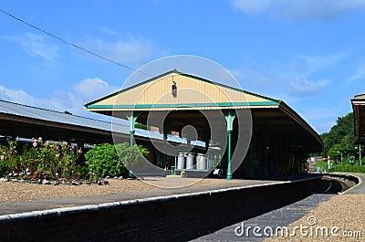 English rural railway platform