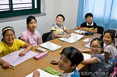English school in South Korea Editorial Photography