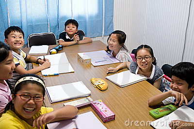 English school in South Korea Editorial Stock Photo