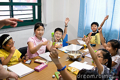 English school in South Korea Editorial Stock Image