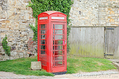 English telephone booth