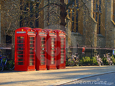 English telephone boxes