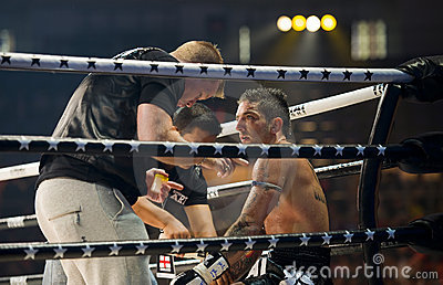 English thaiboxing world champion Liam Harrison Editorial Photography