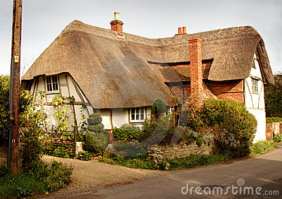 English Thatched Village Cottage