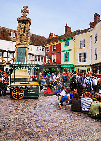 English Town Square, Canterbury Editorial Image