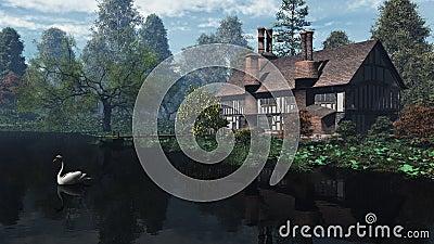 English Traditional Riverside Manor House