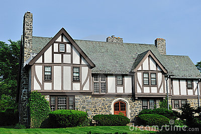 English Tudor House Exterior Royalty Free Stock