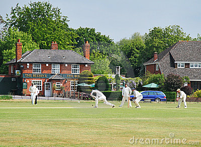 An English Village Cricket Match Editorial Image
