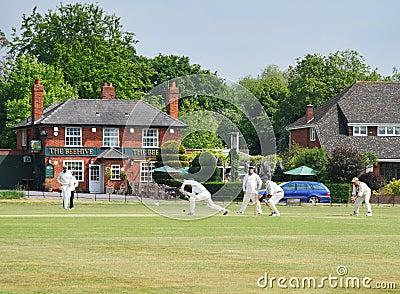An English Village Cricket Match Editorial Image