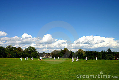 English village cricket match