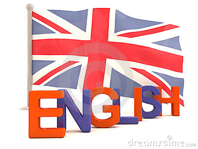 English word with british flag