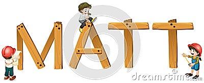 English word matt