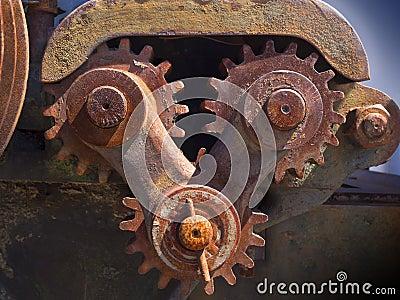Engranajes oxidados