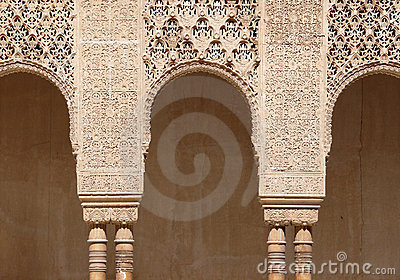 Engraved arches. Islamic art. Alhambra