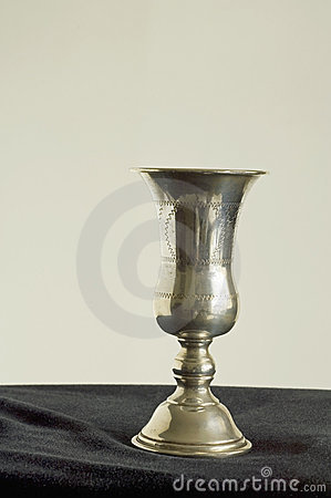 Engraved kiddish cup