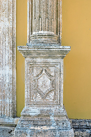 Engraved pillar