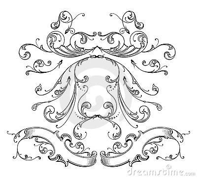 Engraving ornament vector