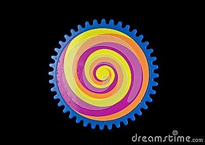 Engrenagem colorida
