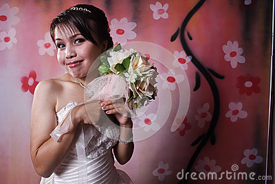 She is enjoy bride